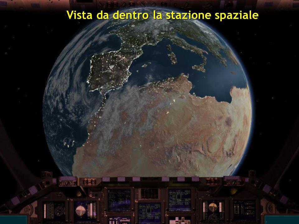 Vista da dentro la stazione spaziale