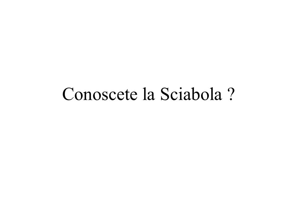 Conoscete la Sciabola