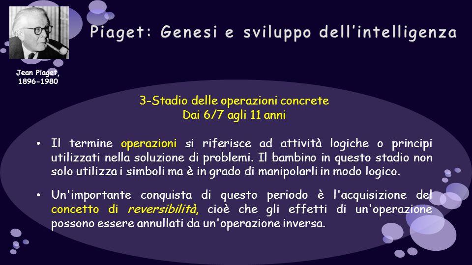 Piaget: Genesi e sviluppo dell'intelligenza