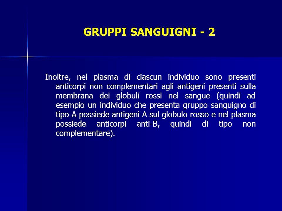 GRUPPI SANGUIGNI - 2