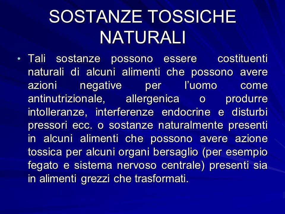 SOSTANZE TOSSICHE NATURALI