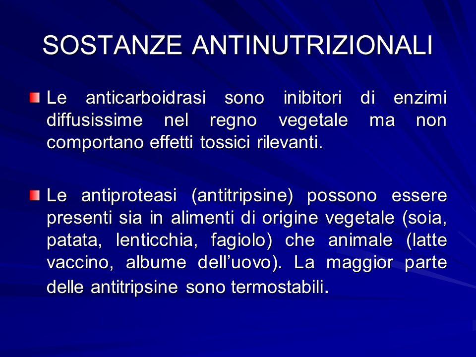 SOSTANZE ANTINUTRIZIONALI