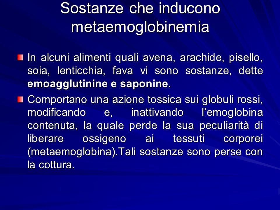 Sostanze che inducono metaemoglobinemia