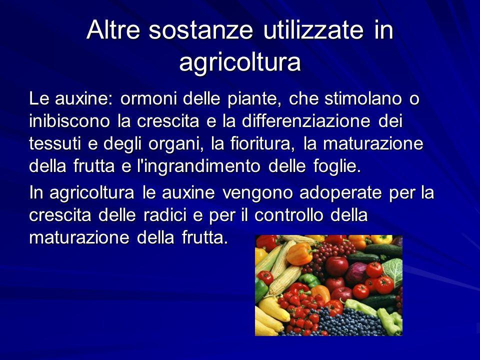 Altre sostanze utilizzate in agricoltura