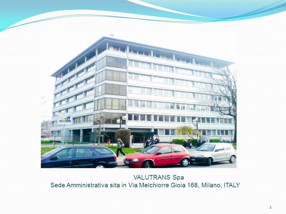 Sede Amministrativa sita in Via Melchiorre Gioia 168, Milano, ITALY