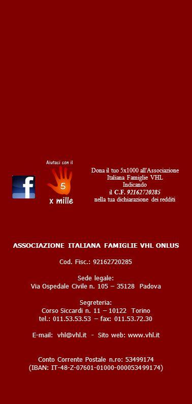 ASSOCIAZIONE ITALIANA FAMIGLIE VHL ONLUS