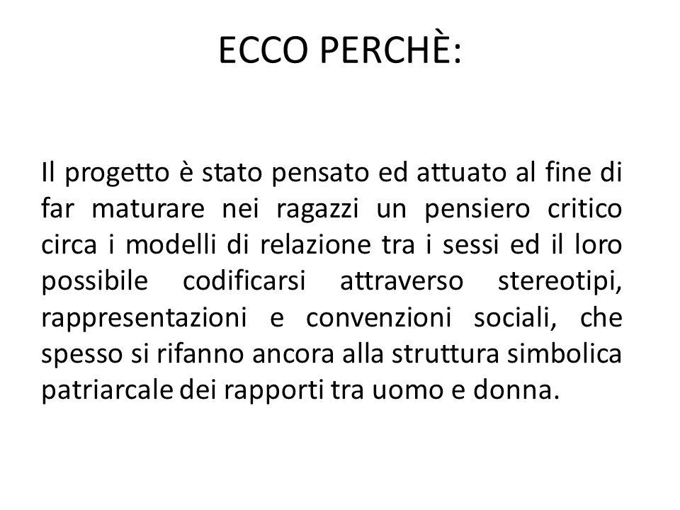 ECCO PERCHÈ: