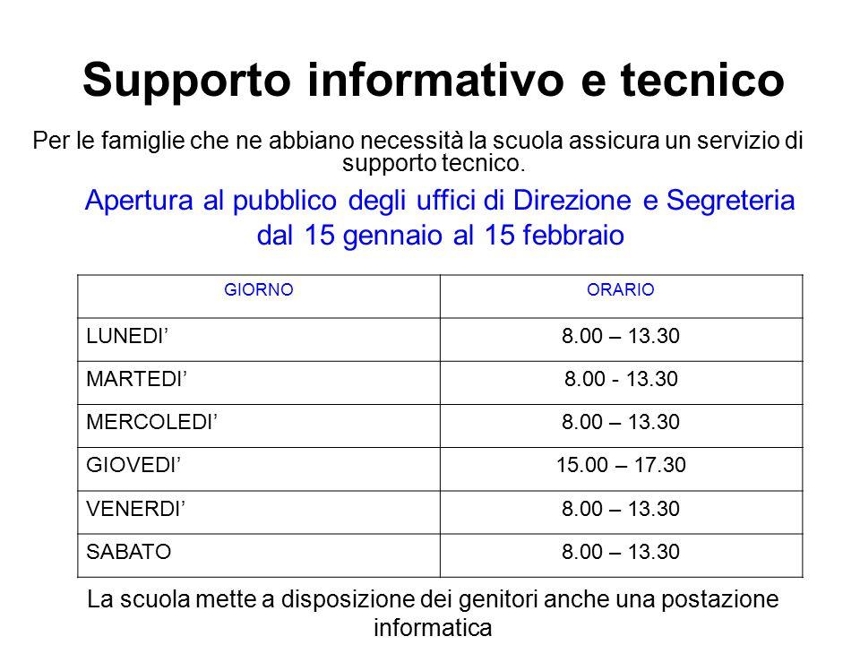 Supporto informativo e tecnico