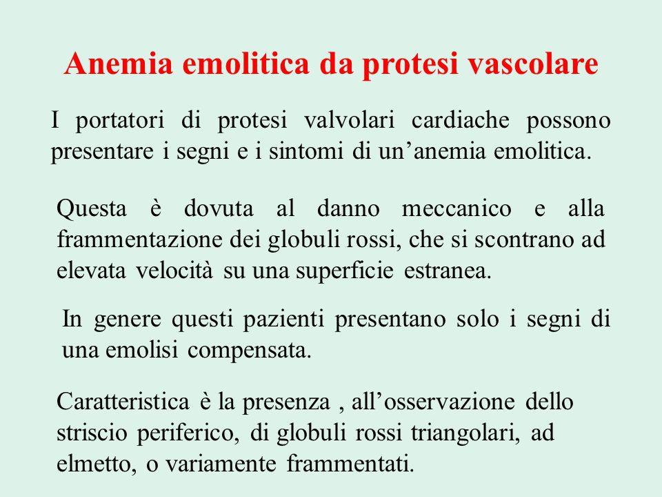 Anemia emolitica da protesi vascolare