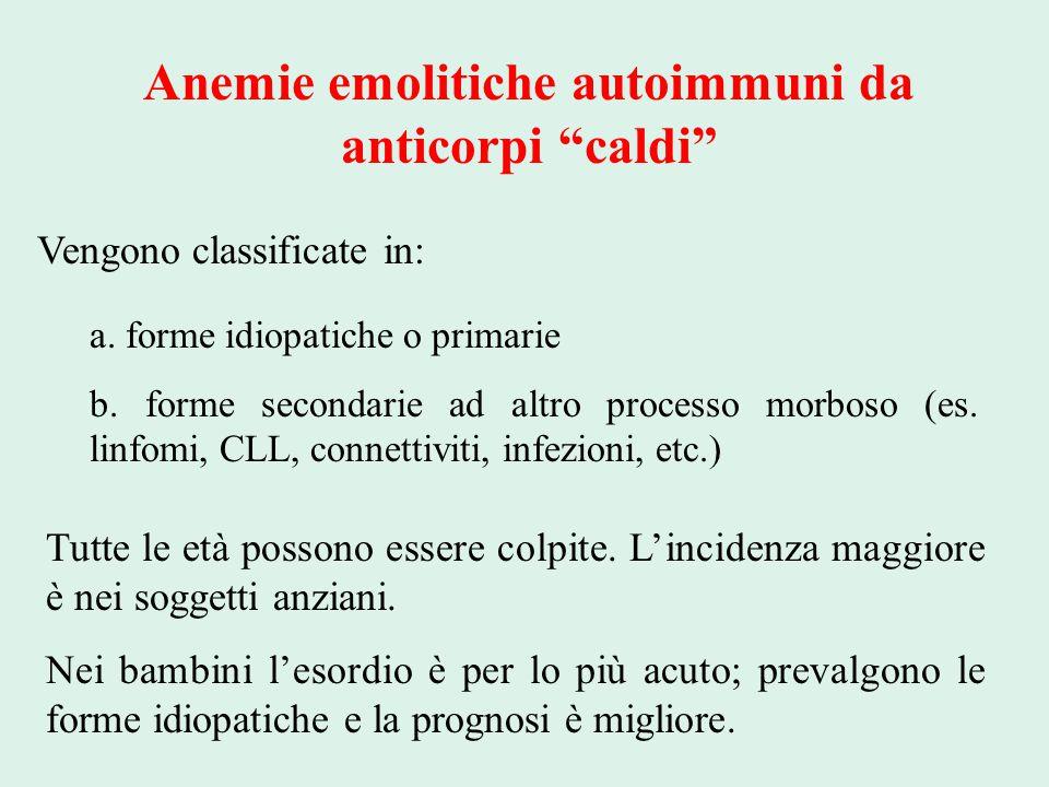 Anemie emolitiche autoimmuni da anticorpi caldi
