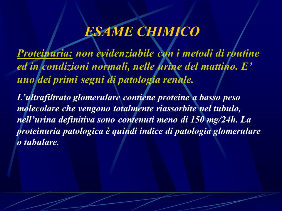 ESAME CHIMICO