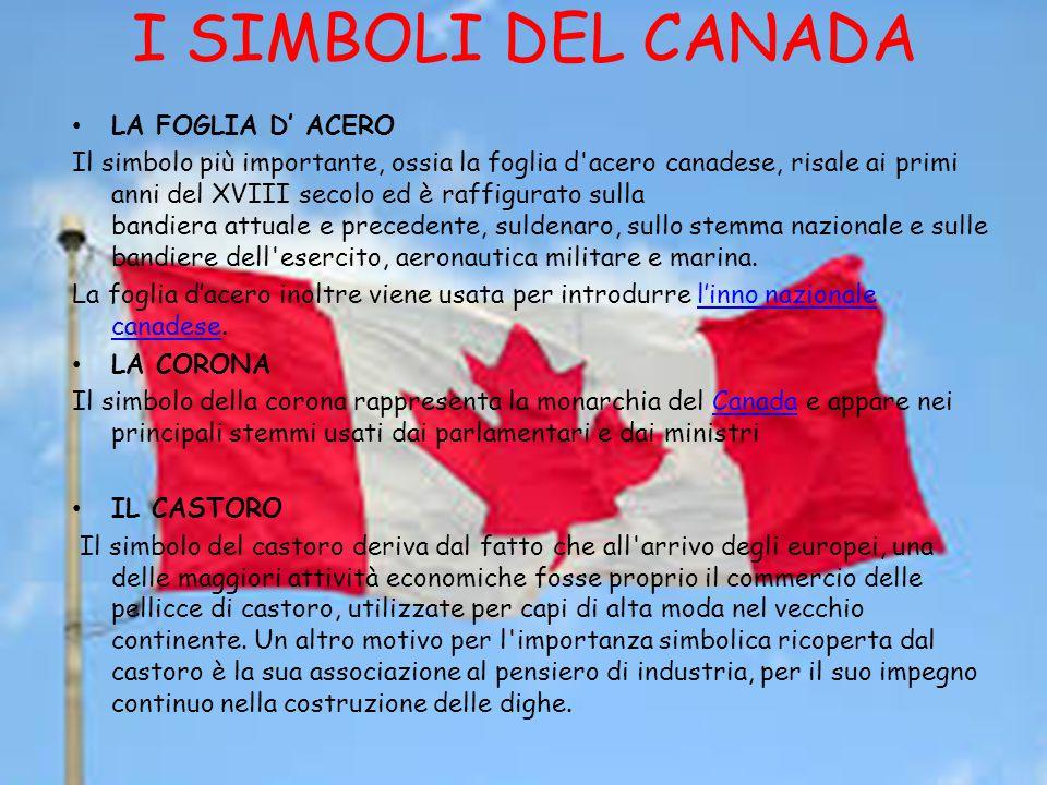 I SIMBOLI DEL CANADA LA FOGLIA D' ACERO