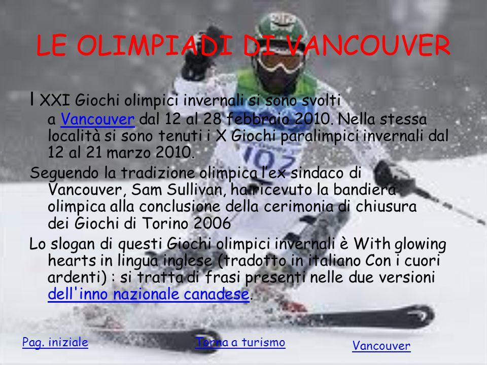 LE OLIMPIADI DI VANCOUVER