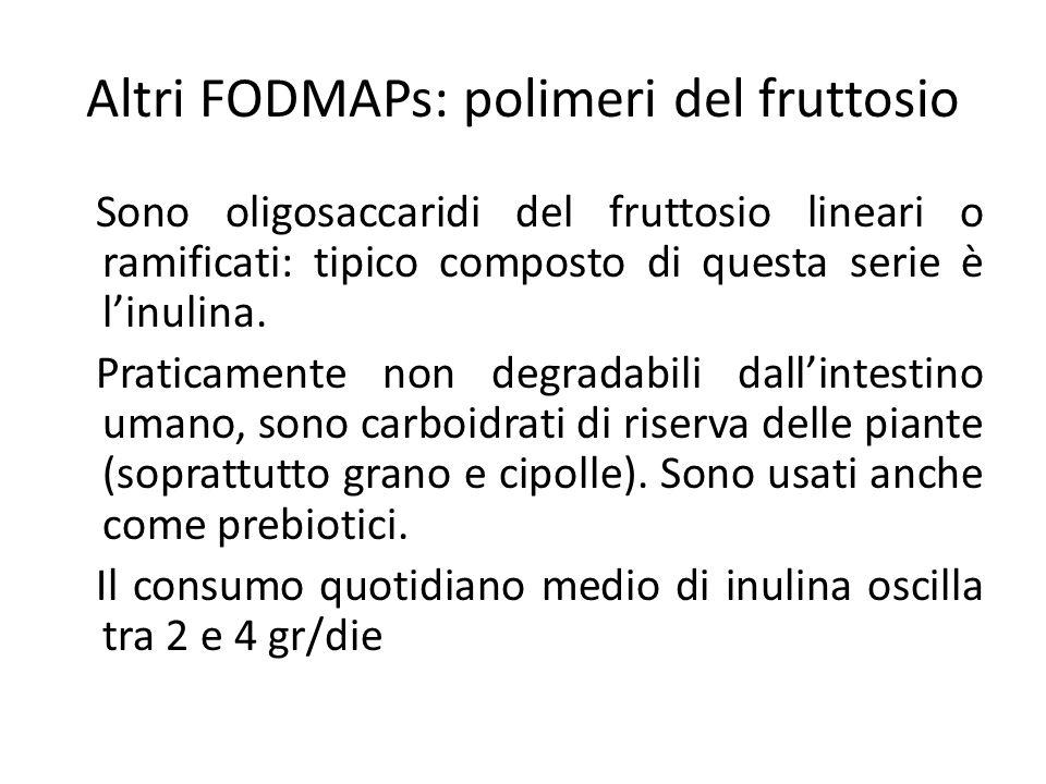 Altri FODMAPs: polimeri del fruttosio