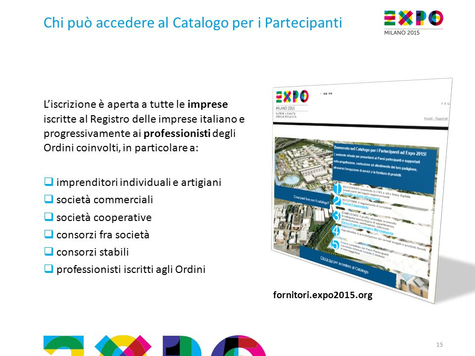 Chi può accedere al Catalogo per i Partecipanti