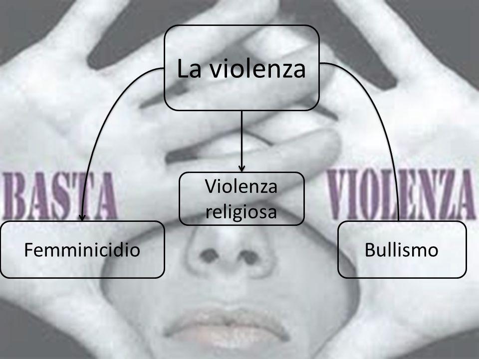 La violenza Violenza religiosa Femminicidio Bullismo
