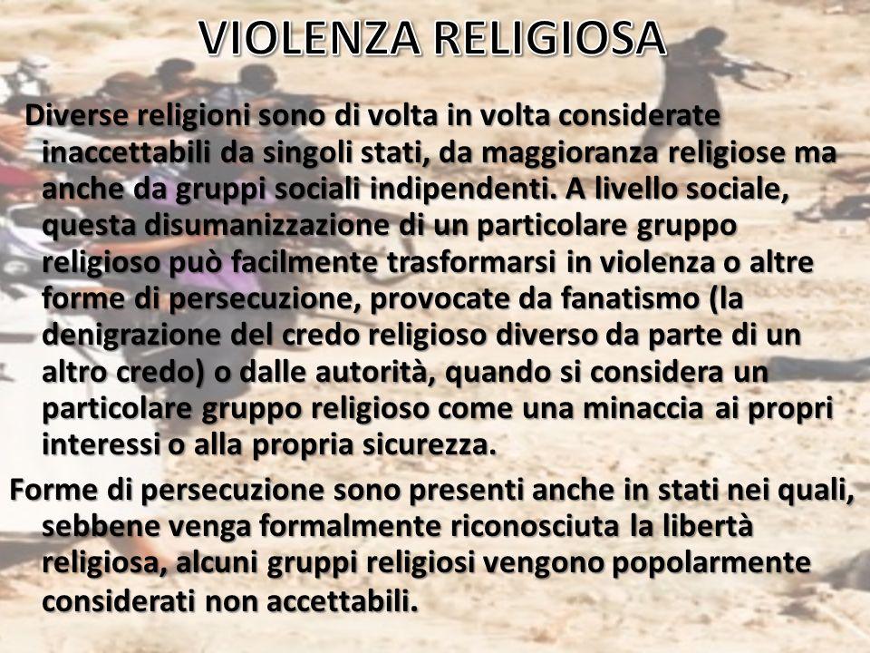 VIOLENZA RELIGIOSA