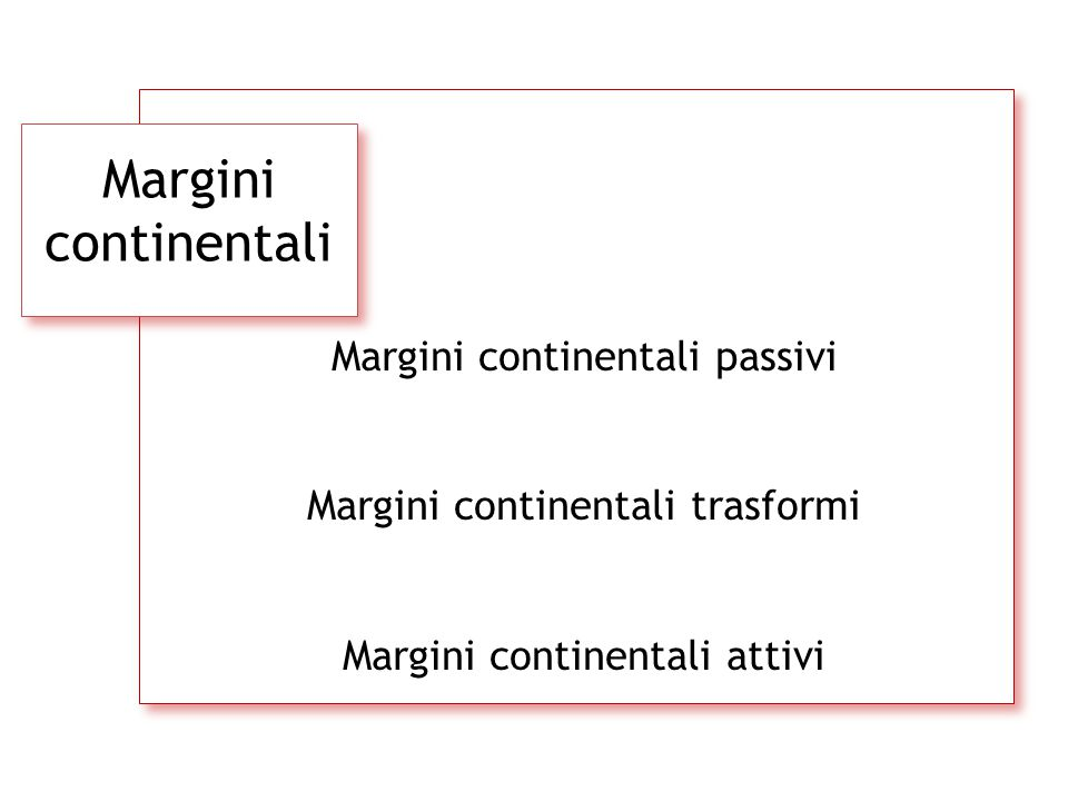 Margini continentali Margini continentali passivi
