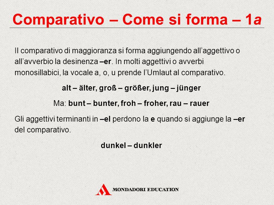 Comparativo – Come si forma – 1a
