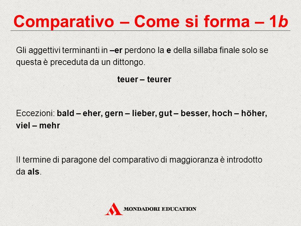 Comparativo – Come si forma – 1b