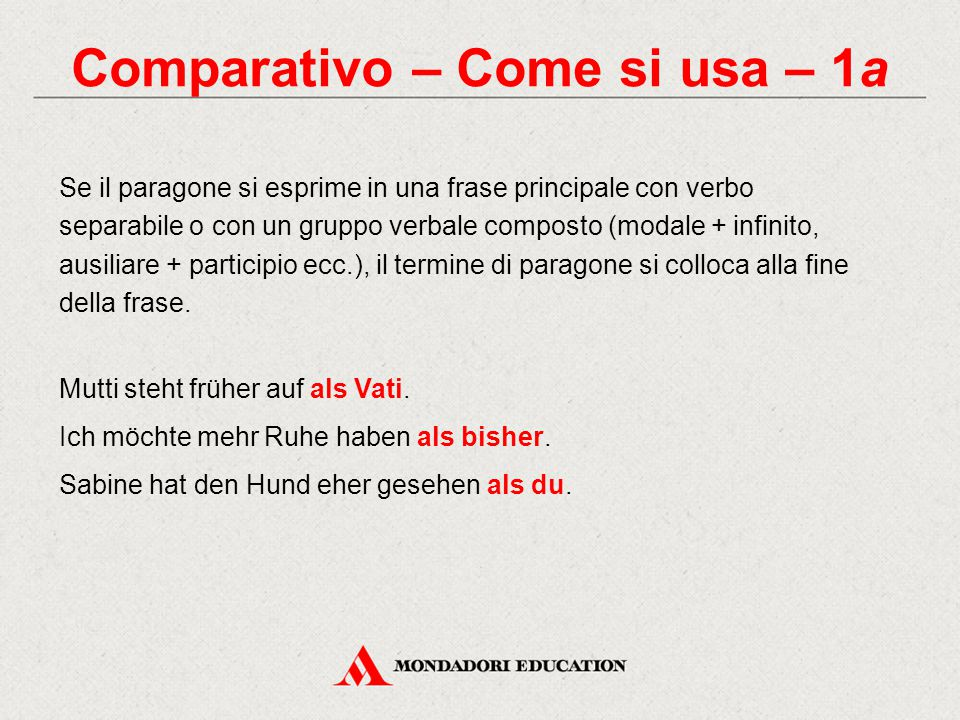 Comparativo – Come si usa – 1a