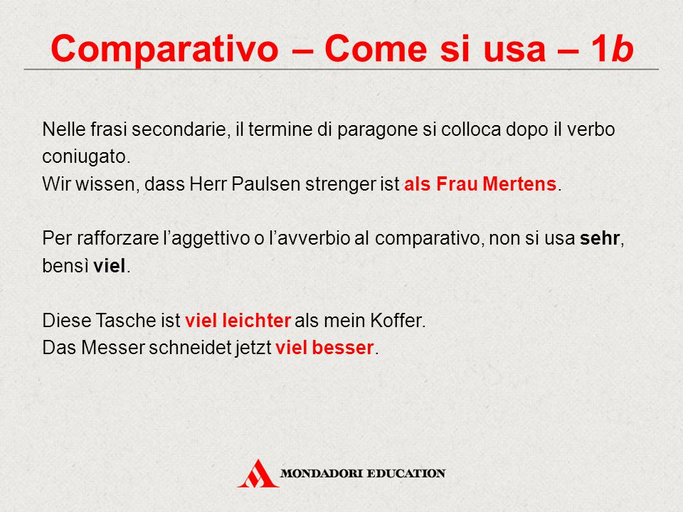 Comparativo – Come si usa – 1b