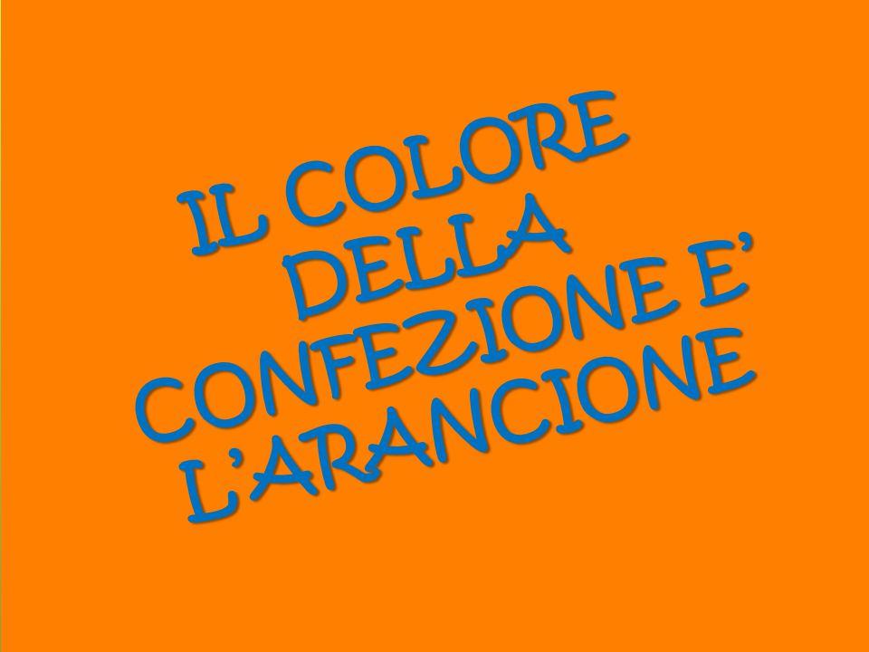 IL COLORE DELLA CONFEZIONE E' L'ARANCIONE
