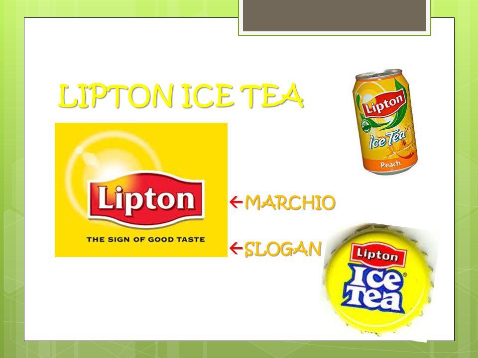 LIPTON ICE TEA MARCHIO SLOGAN