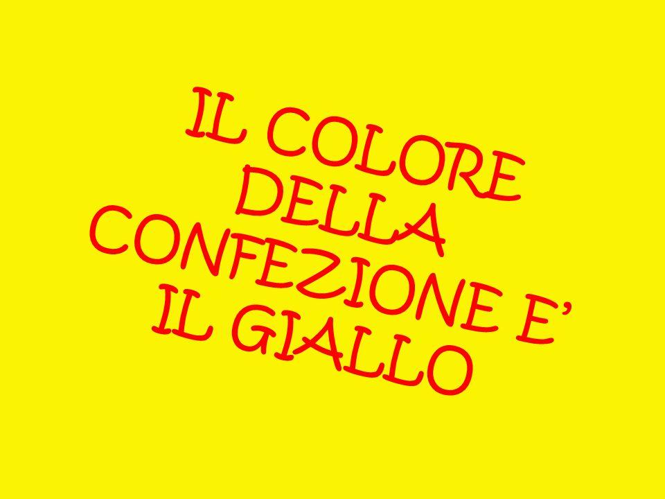 IL COLORE DELLA CONFEZIONE E' IL GIALLO