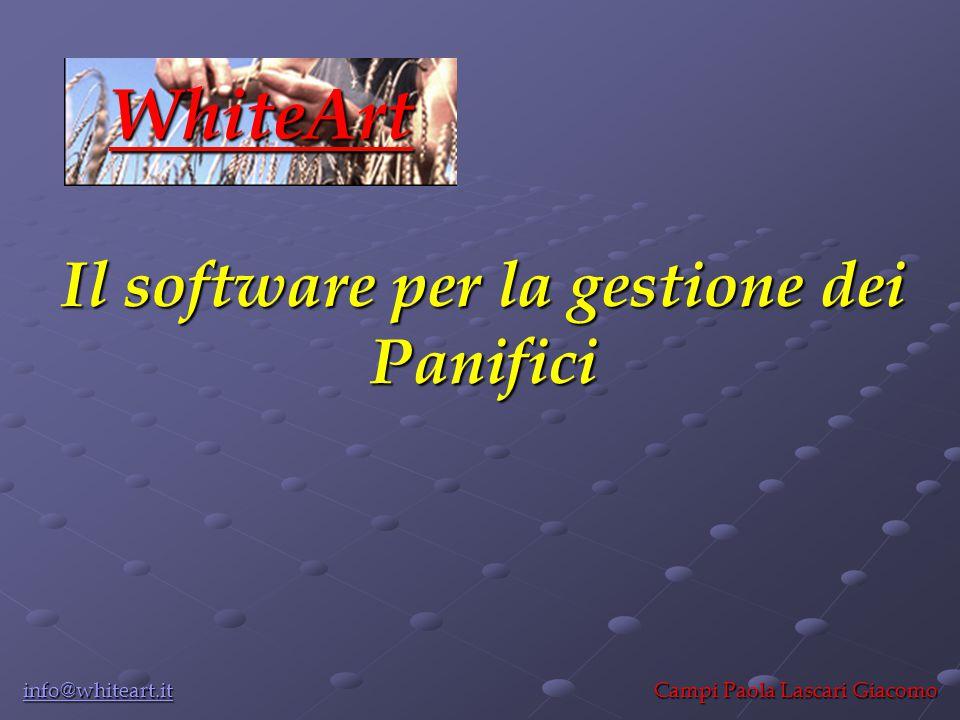 Il software per la gestione dei Panifici