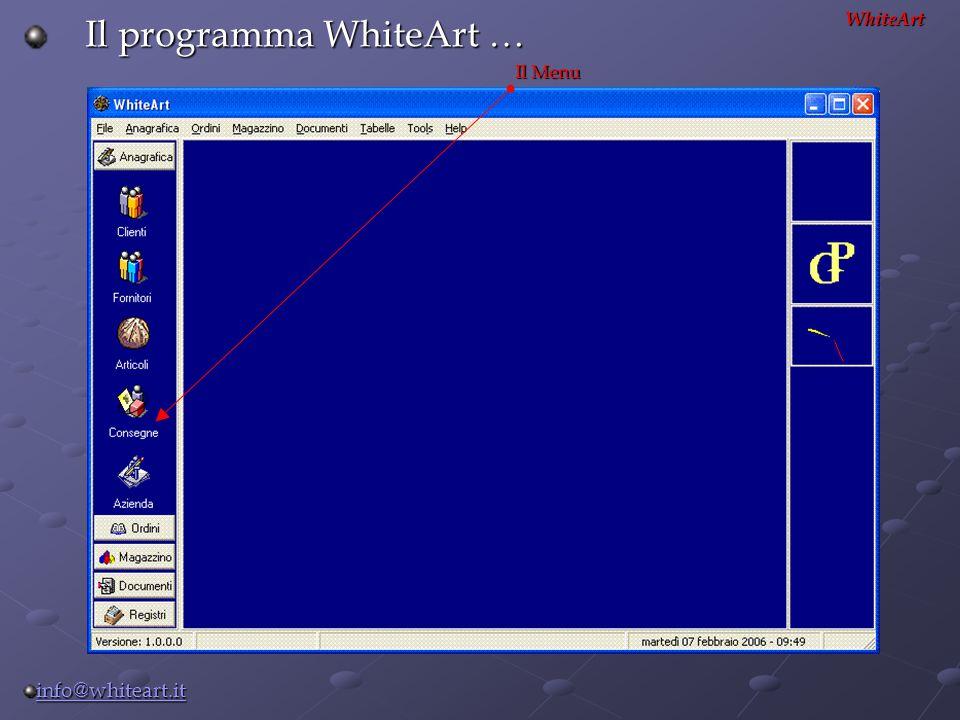 Il programma WhiteArt …
