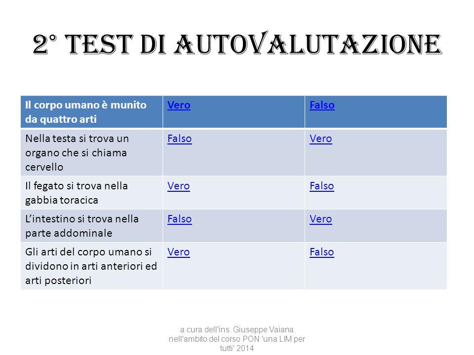 2° test di autovalutazione