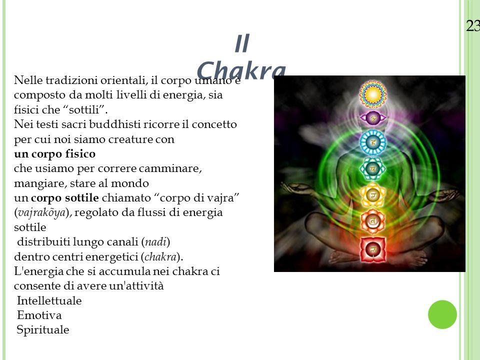 23/08/12 11. Il Chakra. Nelle tradizioni orientali, il corpo umano è composto da molti livelli di energia, sia fisici che sottili .