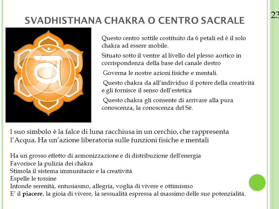 SVADHISTHANA CHAKRA O CENTRO SACRALE