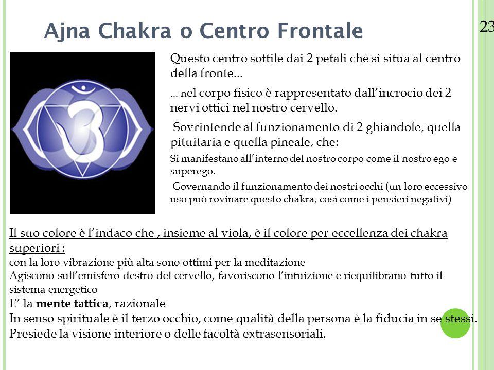 Ajna Chakra o Centro Frontale