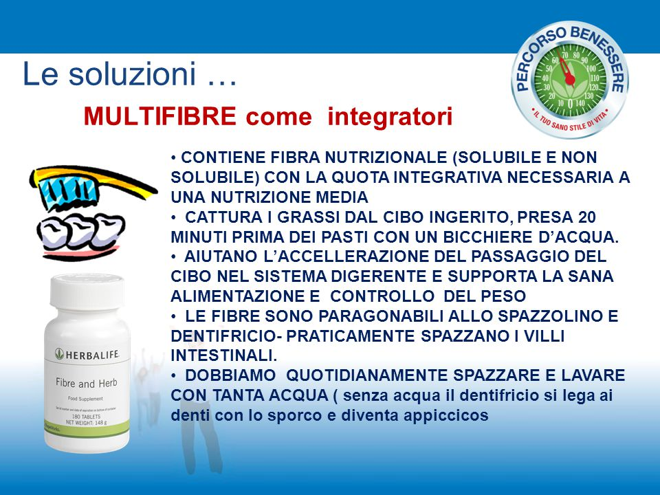 MULTIFIBRE come integratori
