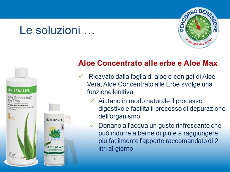 Le soluzioni … Aloe Concentrato alle erbe e Aloe Max