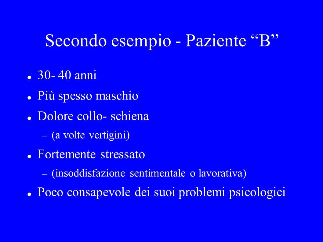 Secondo esempio - Paziente B