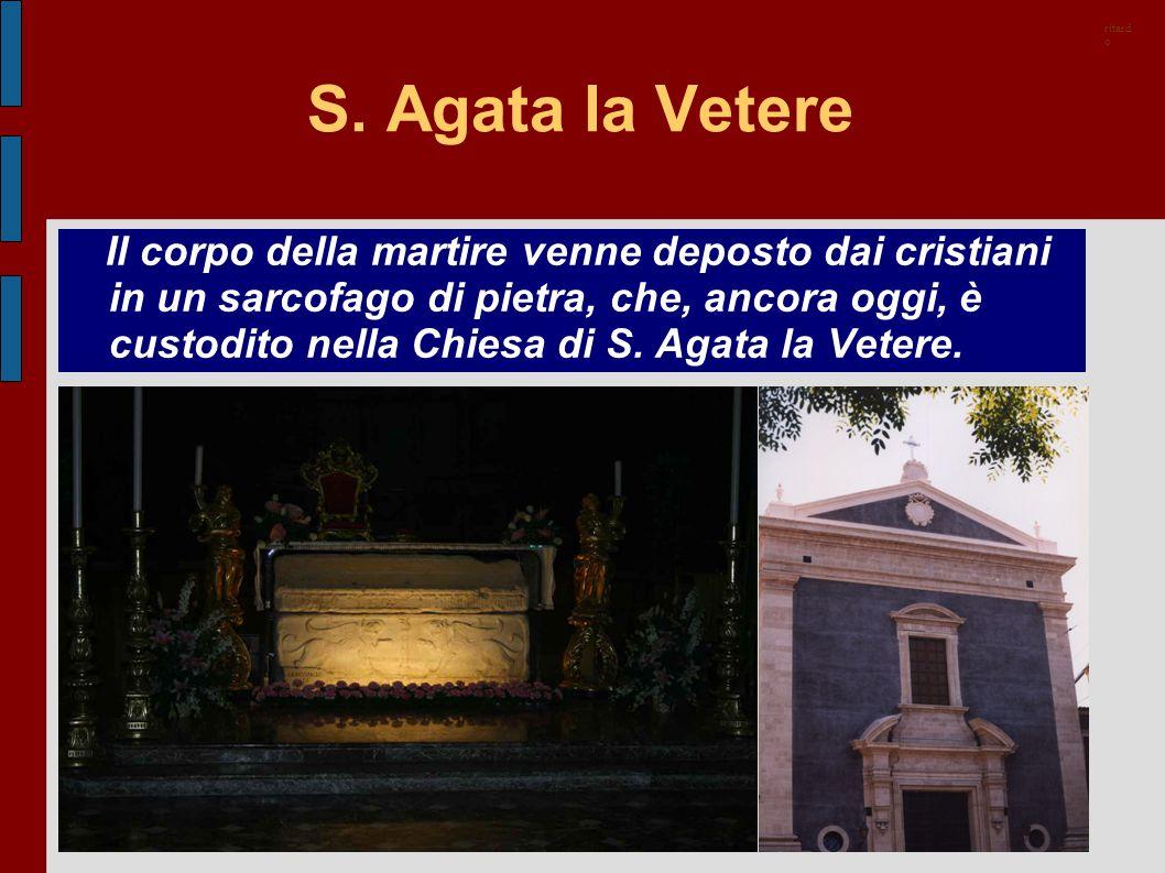 ritardo S. Agata la Vetere.