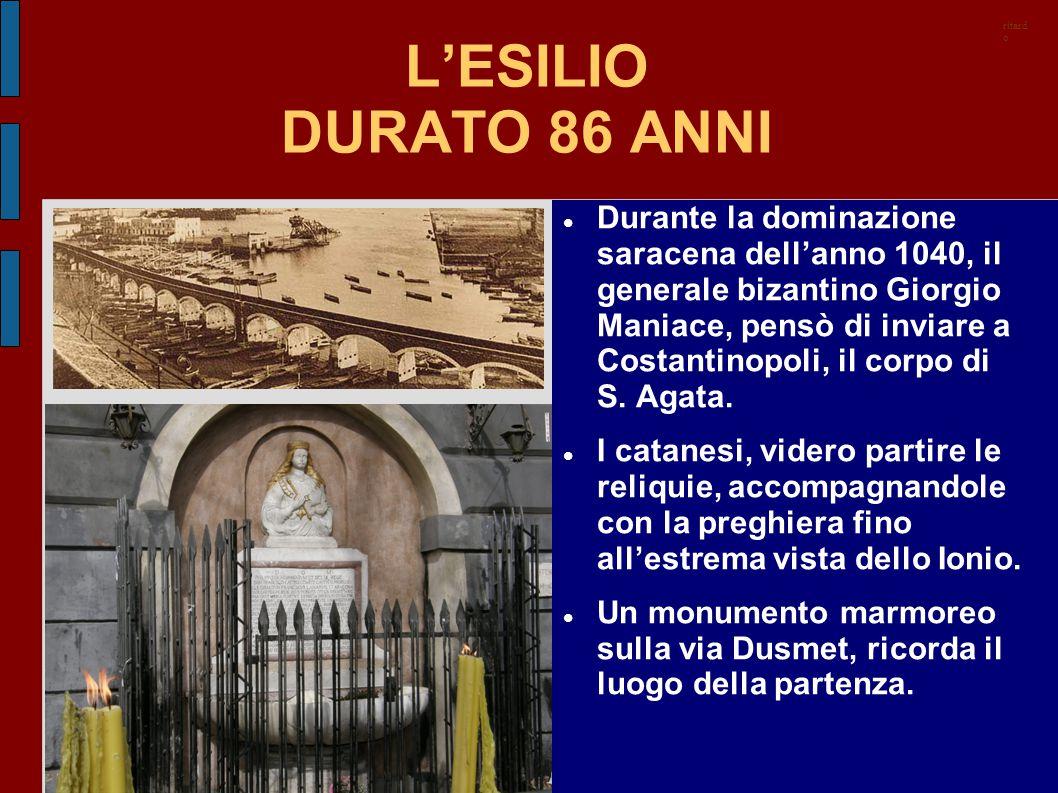 ritardo L'ESILIO DURATO 86 ANNI.
