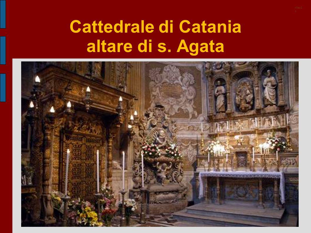 Cattedrale di Catania altare di s. Agata