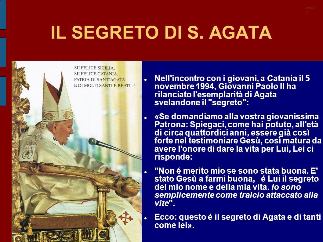 ritardo IL SEGRETO DI S. AGATA.
