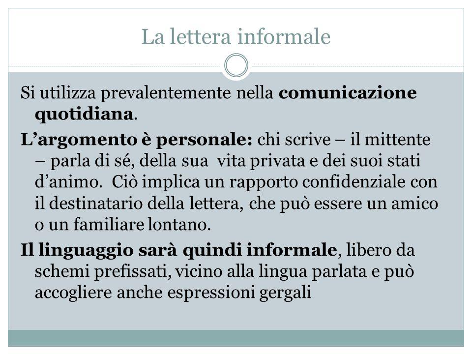 La lettera informale
