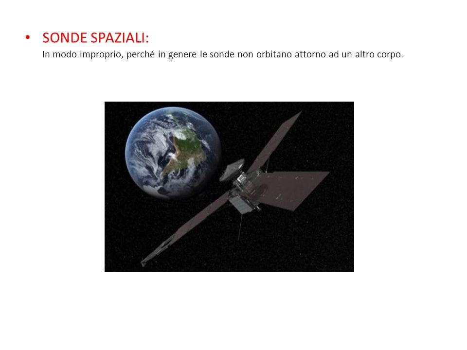 SONDE SPAZIALI: In modo improprio, perché in genere le sonde non orbitano attorno ad un altro corpo.