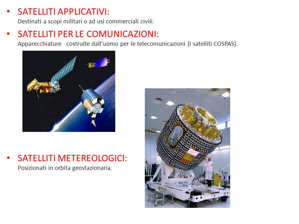 SATELLITI APPLICATIVI: