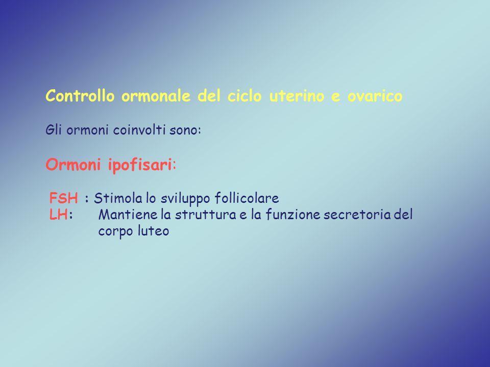 Controllo ormonale del ciclo uterino e ovarico
