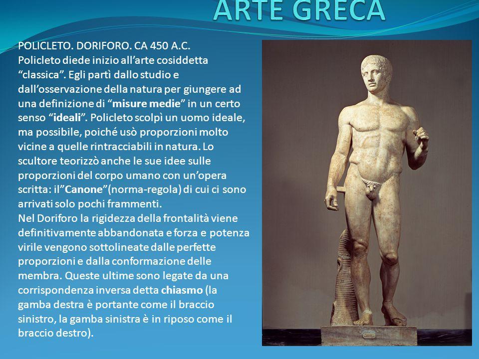 ARTE GRECA POLICLETO. DORIFORO. CA 450 A.C.