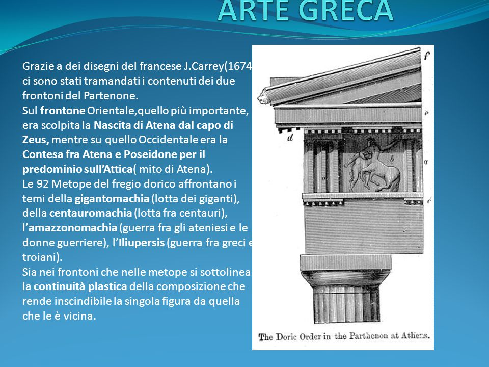 ARTE GRECA Grazie a dei disegni del francese J.Carrey(1674)