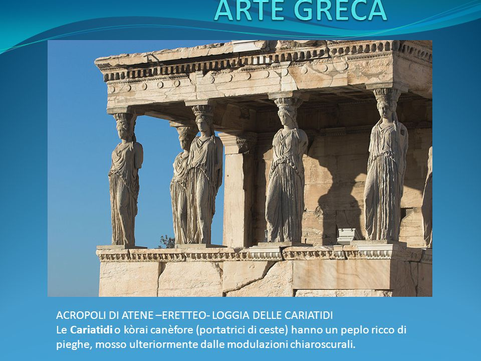 ARTE GRECA ACROPOLI DI ATENE –ERETTEO- LOGGIA DELLE CARIATIDI