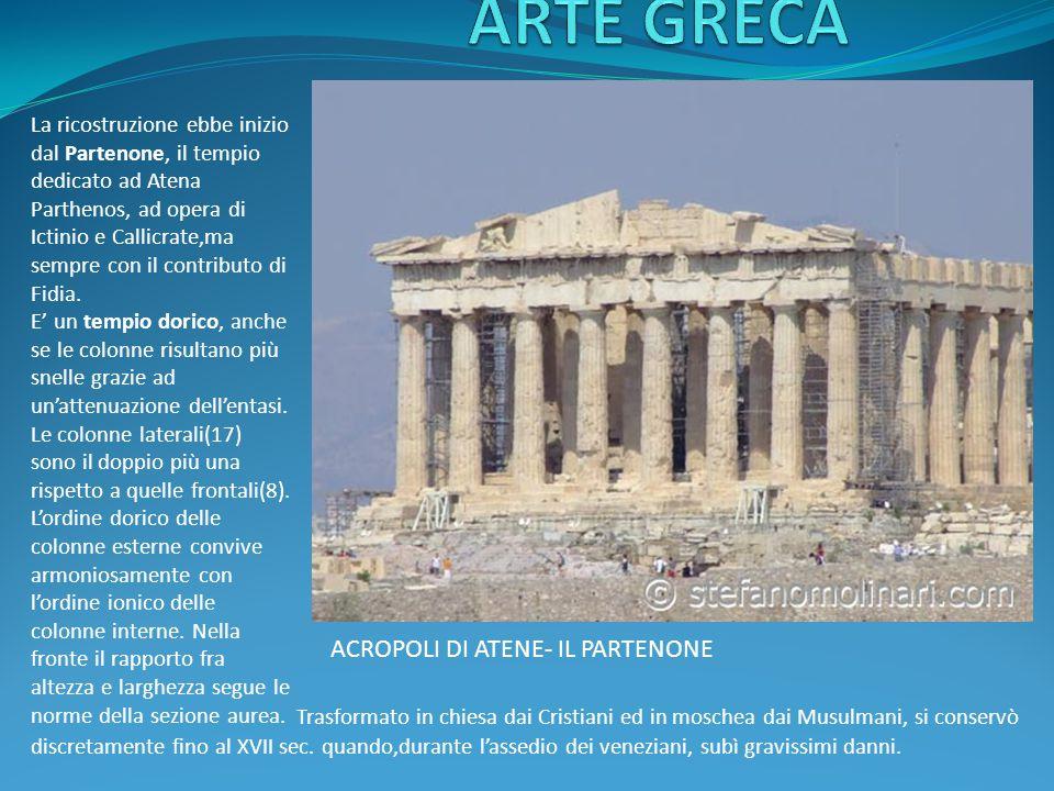 ARTE GRECA ACROPOLI DI ATENE- IL PARTENONE